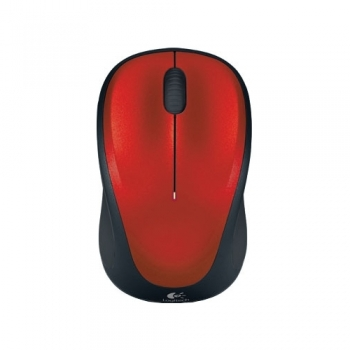 Logitech Wireless Mouse M235 Red-Black USB